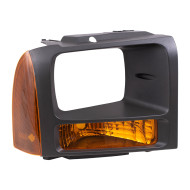 Picture of 05-07 Ford Super Duty Pickup Truck New Passengers Park Signal Front Marker Light Lamp with Black Bezel