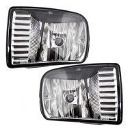 Picture of 00-02 Lincoln LS New Pair Set Fog Light Lamp Rectangular Lens Housing Assembly SAE