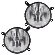 Picture of 05-09 Ford Mustang GT New Pair Set Fog Light Lamp Lens Housing Assembly SAE