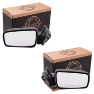 Picture of 05-09 Ford Mustang New Pair Set Power Side View Mirror Glass Housing Assembly with Smooth Finish