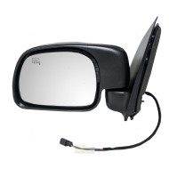 Picture of 00-01 Ford Excursion SUV New Drivers Power Side View Mirror Glass Housing Heated Paddle Type Assembly