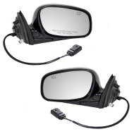 Picture of 04-08 Lincoln Town Car New Pair Set Power Side View Mirror Glass Housing Heated with 12H5P Connector