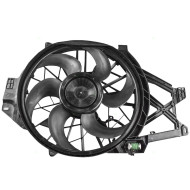 Picture of 01-04 Ford Mustang 4.6L Engine New Radiator Cooling Fan Motor Shroud Housing Assembly Aftermarket