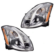 Picture of 04-06 Nissan Maxima New Pair Set Halogen Headlight Headlamp Lens Assembly SAE DOT