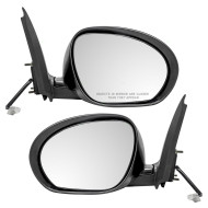 Picture of 11-12 Nissan Juke New Pair Set Power Side View Mirror Glass Housing Smooth Assembly