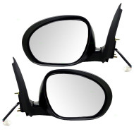 Picture of 11-14 Nissan Juke New Pair Set Power Side View Mirror Glass Housing with Chrome Finish