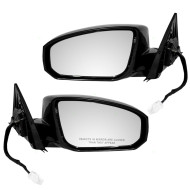 Picture of 04-07 Nissan Maxima New Pair Set Side Power Mirror Glass Housing Assembly Heat