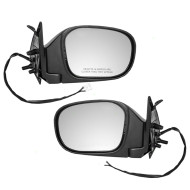Picture of 01-03 Infiniti QX4 New Pair Set Power Side View Mirror Blue Glass Housing Heated Assembly