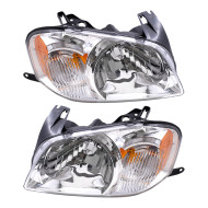 Picture of 05-06 Mazda Tribute SUV New Pair Set Headlight Headlamp Lens Housing Assembly SAE DOT