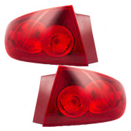Picture of 04-06 Mazda 3 Mazda3 New Pair Set Taillight Taillamp Quarter Panel Mounted with Red Lens Housing Assembly DOT