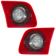 Picture of 04-06 Mazda 3 Mazda3 New Pair Set Back-Up Light Lamp Red Lens Housing Assembly DOT