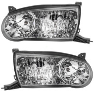 Picture of 01-02 Toyota Corolla New Pair Set Headlight Headlamp Lens Housing Assembly