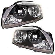 Picture of 05-10 Scion tC New Pair Set CAPA-Certified Headlight Headlamp Lens with Grey Bezel Housing Assembly DOT