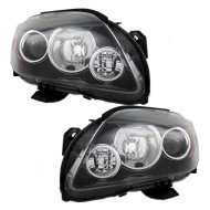 Picture of 05-10 Scion tC New Pair Set Headlight Headlamp Lens Housing with Grey Bezel Assembly DOT
