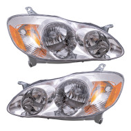 Picture of 03-04 Toyota Corolla CE/LE New Pair Set Headlight Headlamp Assembly SAE and DOT