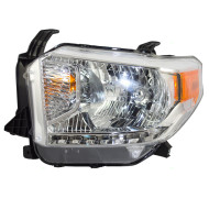 Picture of 14 15 Toyota Tundra SR SR5 & Limited Pickup Truck New Drivers Halogen Headlight Headlamp with Leveling Assembly