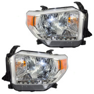 Picture of 14 15 Toyota Tundra SR SR5 & Limited Pickup Truck New Passengers Halogen Headlight Headlamp with Leveling Assembly
