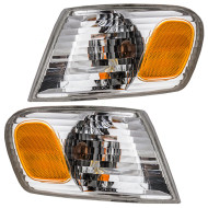 Picture of 01-02 Toyota Corolla New Pair Set CAPA-Certified Park Signal Corner Marker Light Lamp Amber & Clear Lens Assembly