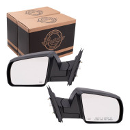 Picture of 14 Toyota Tundra Pickup Truck New Pair Set Power Side View Mirror Glass Housing Heated Textured Assembly