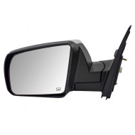 Picture of 14 Toyota Tundra Pickup Truck New Drivers Power Side View Mirror Glass Housing Chrome Heated