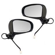 Picture of 10-15 Toyota Prius & Plug-In New Pair Set Power Side View Mirror Glass Housing Heated