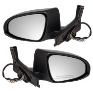 Picture of 12-14 Toyota Prius C New Pair Set Power Side View Mirror Glass Housing Heated Signal