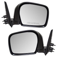 Picture of 00 Toyota Tacoma Pickup Truck New Pair Set Manual Side View Mirror Glass Housing