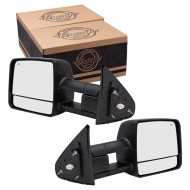 Picture of 07-15 Toyota Tundra Pickup Truck New Pair Set Power Tow Mirror Glass Housing Heated Signal Manual Telescopic