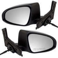 Picture of 12-14 Toyota Prius C New Pair Set Power Side View Mirror Glass Housing with Signal