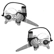Picture of 98-02 Toyota Corolla New Pair Set Rear Power Window Lift Regulators with Motors Assemblies