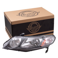 Picture of 06-08 Honda Civic Hybrid New Driver's Headlight Headlamp Housing w/Clear Parking Lens Assembly SAE DOT