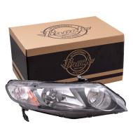 Picture of 06-08 Honda Civic Hybrid New Passenger's Headlight Headlamp Housing w/Clear Parking Lens Assembly SAE DOT
