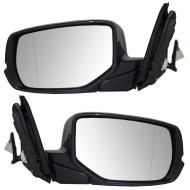 Picture of 13-15 Honda Accord New Pair Set Power Side View Mirror Glass Housing Heat Heated Signal