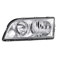 Picture of 00-04 Volvo S40 V40 New Drivers Headlight Headlamp Lens with Chrome Bezel Housing