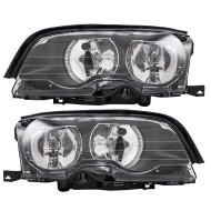 Picture of 02-03 BMW 3 Series New Pair Set Halogen Headlight Headlamp Lens Housing Assembly DOT