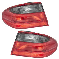 Picture of 00-02 Mercedes-Benz E-Class Avantgarde W210 New Pair Set Taillight Taillamp Lens Housing Assembly DOT