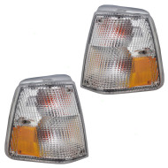 Picture of 86-93 Volvo 240 New Pair Set Park Signal Corner Marker Light Lamp Lens Housing Assembly DOT