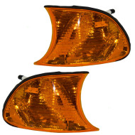 Picture of 02-03 BMW 3 Series New Pair Set Park Signal Corner Marker Light Amber Lamp Lens Assembly DOT