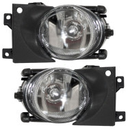 Picture of 01-03 BMW 5 Series New Pair Set Fog Light Lamp Round Lens Housing Assembly SAE
