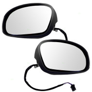 Picture of 03-10 VW Volkswagen New Beetle New Pair Set Power Side View Mirror Glass Housing Heat Heated Signal