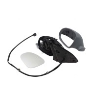 Picture of 05-10 Volkswagen Jetta New Drivers Power Side View Mirror Glass Housing Heated Signal with Dark Grey Cover