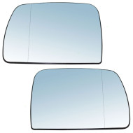 Picture of 00-06 BMW X5 New Pair Set Mirror Glass Blue Tinted Heat Heated Aftermarket