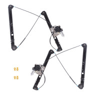 Picture of 00-06 BMW X5 New Pair Set Front Power Window Lift Regulators with Motors & Channel Guide Clips