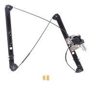 Picture of 00-06 BMW X5 New Drivers Front Power Window Lift Regulator with Motor & Channel Guide Clips