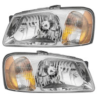 Picture of 00-02 Hyundai Accent New Pair Set Headlight Headlamp Lens Housing Assembly DOT Aftermarket