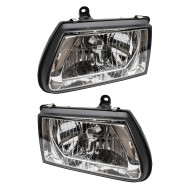 Picture of 00-02 Honda Passport Isuzu Rodeo SUV New Pair Set Headlight Headlamp Housing with Chrome Bezel DOT
