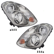 Picture of 03-04 Infiniti G35 New Pair Set Halogen Headlight Headlamp Lens Housing Assembly DOT
