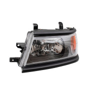 Picture of 00-04 Mitsubishi Montero Sport New Drivers Headlight Headlamp Lens Assembly with Black Bezel DOT