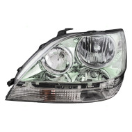 Picture of 01-03 Lexus RX300 New Drivers Headlight Headlamp Lens with Chrome Housing Assembly DOT