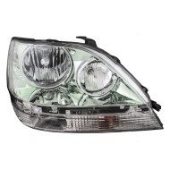 Picture of 01-03 Lexus RX300 New Passengers Headlight Headlamp Lens with Chrome Housing Assembly DOT